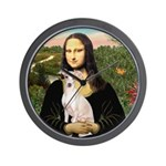 Mona Lisa / Ital Greyhound Wall Clock