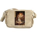 Queen / Italian Greyhound Messenger Bag