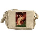 Seated Angel / Ital Greyhound Messenger Bag