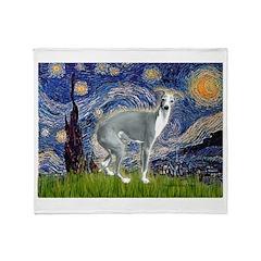 Starry Night/Italian Greyhoun Throw Blanket