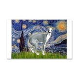 Starry Night/Italian Greyhoun Car Magnet 20 x 12