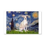 Starry Night / Ital Greyhound Car Magnet 20 x 12