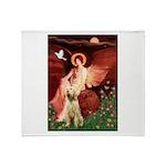 Seated Angel /Italian Spinone Throw Blanket