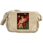 Seated Angel /Italian Spinone Messenger Bag