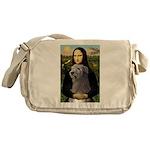 Mona / Irish Wolf Messenger Bag