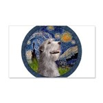 Starry Irish Wolfhound 20x12 Wall Decal