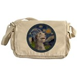 Starry Irish Wolfhound Messenger Bag