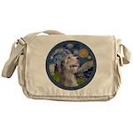 Starry Irish Wolfhound Messenger Bag