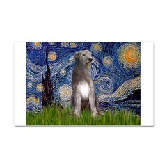 Starry/Irish Wolfhound Car Magnet 20 x 12