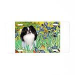 Irises/Japanese Chin Aluminum License Plate