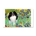 Irises/Japanese Chin Car Magnet 20 x 12