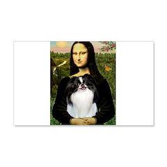 Mona Lisa/Japanese Chin 20x12 Wall Decal
