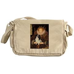 Queen/Japanese Chin Messenger Bag