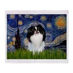 Starry/Japanese Chin Throw Blanket