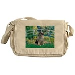 Bridge / Keeshond Messenger Bag