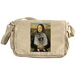 Mona Lisa / Keeshond (F) Messenger Bag