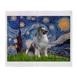Starry / Keeshond Throw Blanket