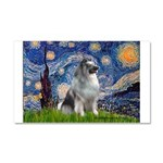 Starry / Keeshond Car Magnet 20 x 12