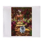 The Path - Keeshond (F) Throw Blanket