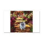 The Path - Keeshond (F) Car Magnet 20 x 12