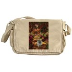 The Path - Keeshond (F) Messenger Bag