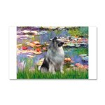 Lilies / Keeshond Car Magnet 20 x 12