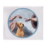 Creation/Labrador (Y) Throw Blanket