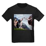 CREATION / Black Lab (#2) Kids Dark T-Shirt