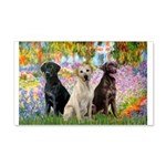 Monet's Garden & Lab Trio 20x12 Wall Decal