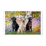 Monet's Garden & Lab Trio 20x12 Wall Decal