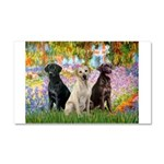Monet's Garden & Lab Trio Car Magnet 20 x 12