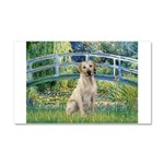 Bridge-Yellow Lab 7 Car Magnet 20 x 12