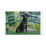 Bridge & Black Lab 20x12 Wall Decal