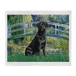 Bridge & Black Lab Throw Blanket