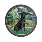 Bridge & Black Lab Wall Clock