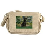 Bridge & Black Lab Messenger Bag