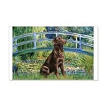 Bridge / Labrador (Choc) 20x12 Wall Decal