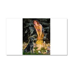 Fairies & Black Lab Car Magnet 20 x 12