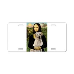 Mona Lisa / Lab (y) Aluminum License Plate