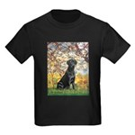 Spring & Black Lab Kids Dark T-Shirt