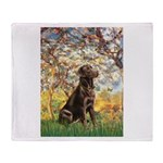 Spring / Choc Lab 11 Throw Blanket