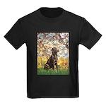 Spring / Choc Lab 11 Kids Dark T-Shirt