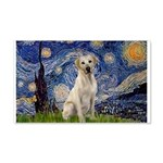 Starry Night Yellow Lab 20x12 Wall Decal
