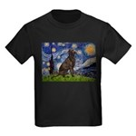 Starry Chocolate Lab Kids Dark T-Shirt