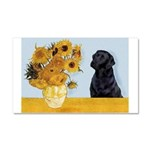 Sunflowers / Lab Car Magnet 20 x 12