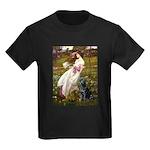 Windflowers & Black Lab Kids Dark T-Shirt