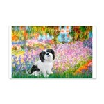 Garden / Lhasa Apso #2 20x12 Wall Decal