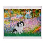 Garden / Lhasa Apso #2 Throw Blanket