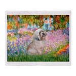 Garden / Lhasa Apso Throw Blanket