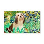Irises / Lhasa Apso #4 20x12 Wall Decal
